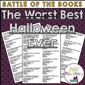 The Best Halloween Ever Battle of the Books Trivia Questions