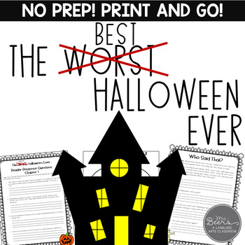 The Best Halloween Ever Novel Unit Common Core Aligned