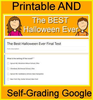 The Best Halloween Ever Novel Study - FREE Sample!