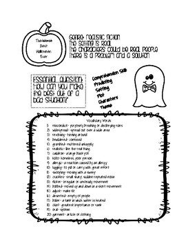 The Best Halloween Ever Information Sheet
