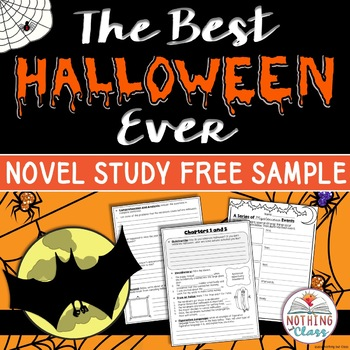 The Best Halloween Ever Novel Study Unit: FREE Sample