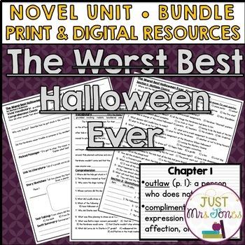 The Best Halloween Ever Novel Unit