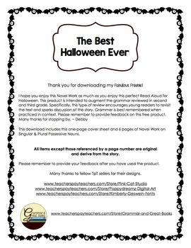 The Best Halloween Ever: Novel Work