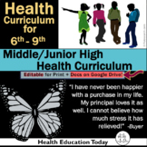 Middle School Health Lessons: NEWLY ENHANCED!  212 Lessons