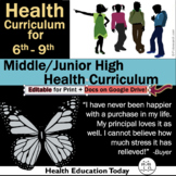 Middle School Health Lessons: TPT's #1 Best-Selling Middle/Jr. Health Curriculum