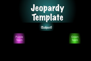 The Best Jeopardy template for two teams