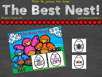 The Best Nest - Rhyming Freebie
