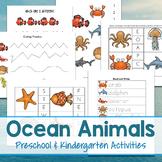 Ocean Animals Preschool and Kindergarten Activities