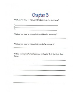 The Best Older Sister-Houghton Mifflin Third Grade Theme #2