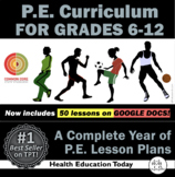 P.E. Curriculum: Complete Year of  6th-12th Grade P.E. Les