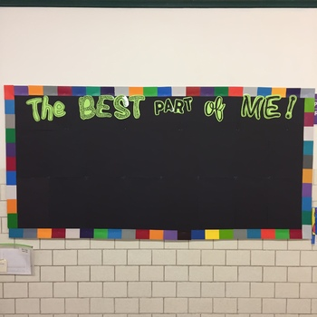 The Best Part of Me Activity, Paper and Digital versions, & Bulletin Board Set
