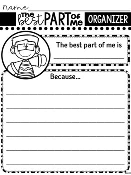 The Best Part of Me Book Activity ~ By Wendy Ewald
