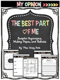 The Best Part of Me Opinion Writing Graphic Organizers, Wr