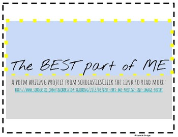 The Best Part of Me: Poetry Project- Digital and Printable Version