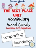 The Best Place Unit Vocabulary Cards for Louisiana K-2 Guidebook