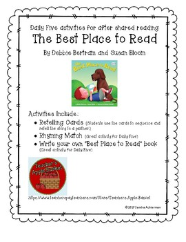 The Best Place to Read by Debbie Bertram & Susan Bloom  Shared Reading Daily Fiv