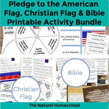 The Best Pledge of Allegiance Mega Bundle ~ American Flag, Christian Flag, Bible