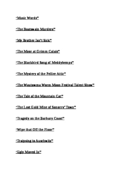 """""""The Best Readers Theater Scripts from the Usual Bohemian"""" [Theatre Script]"""