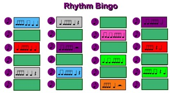 Rhythm Bingo 4 – Perfect for a Substitute