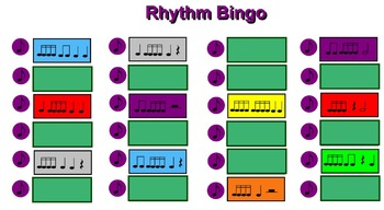 The Best Rhythm Bingo Games Ever (Set of 4) – Perfect for a Substitute