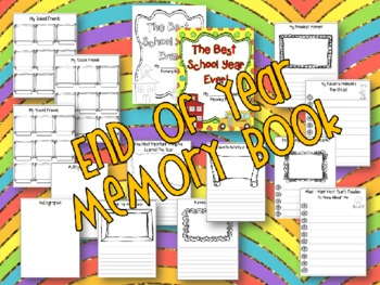 End of Year Memory Book - Best School Year Ever