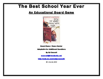 The Best School Year Ever Board Game