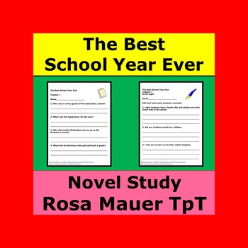 The Best School Year Ever Literacy Unit