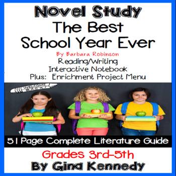 The Best School Year Ever Novel Study + Enrichment Project Menu