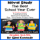 The Best School Year Ever Novel Study + Enrichment Project Menu