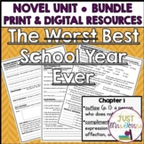 The Best School Year Ever Novel Unit