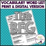 The BFG Vocabulary Word List