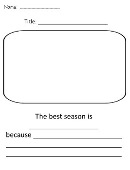 The Best Season Level D Guided Reading book w/lesson plans *Opinion writing!