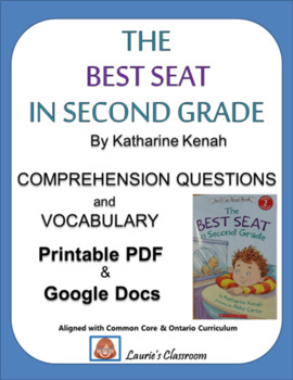 The Best Seat in Second Grade, comprehension questions and