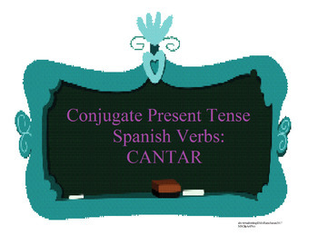 The Best Color Coded Spanish Verb Conjugation Practice: Cantar