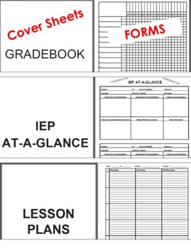 The Best Teacher Binder (RTI, Lesson Plans, Data Forms, IEP & More) All Grades