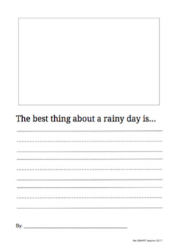 The Best Thing About A Rainy Day Writing Prompt