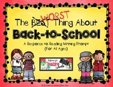 The Best Thing About Back-to-School - A Response to Reading and Writing Prompt