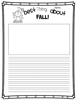 The Best Thing About Fall - Opinion Writing (Organizer & Final)