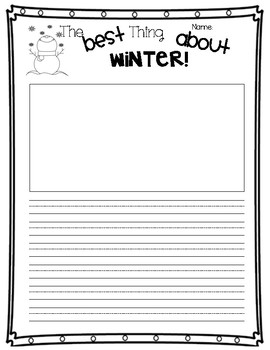 The Best Thing About Winter - Opinion Writing (Organizer & Final)