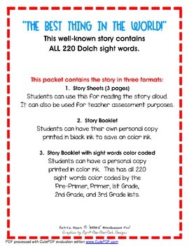 Multisensory Sight Word Stories, Booklet #3 (Digital Download)