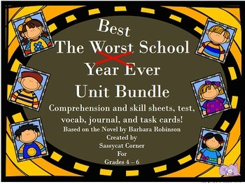 The Best Worst School Year Ever Complete Unit Bundle