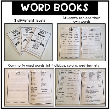The Best Writing Resource Pack:Word Lists,Word Books,SUPER Writing Folder,&More!