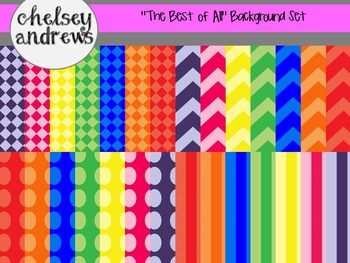 """""""The Best of All"""" Digital Background Paper Set {Personal or Commercial Use}"""