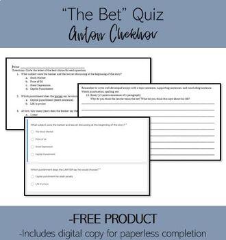 The Bet Anton Chekhov Test