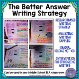 The Better Answers Writing Strategy Unit