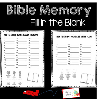 The Books of the Bible Memory Activities, Games, and Assessments