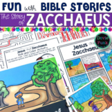 The Bible Story of Zacchaeus Slide Show and Booklet for Sunday School - Church