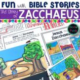 Bible Story Activities for Sunday School or Church Zacchaeus