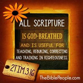 The Bible is Our Instruction Book- Preschool