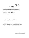The Big 21: Teaching and Learning the basic Multiplicationm Facts